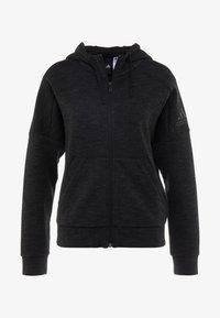 adidas Performance - Zip-up hoodie - black/grey six - 4