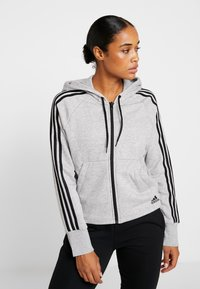 adidas Performance - Hettejakke - medium grey heather - 0