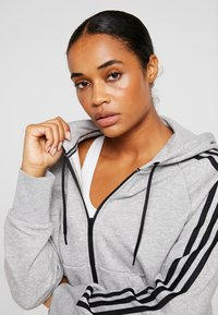 adidas Performance - Hettejakke - medium grey heather - 3