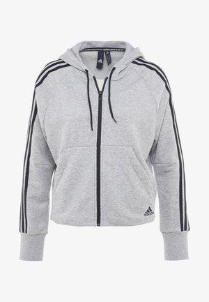 Mikina na zip - medium grey heather