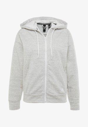 Mikina na zip - solid grey/off white/white