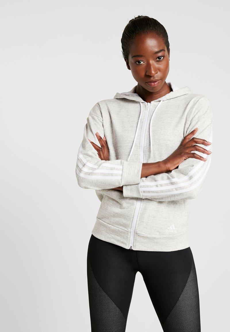 adidas Performance - Hettejakke - solid grey/off white/white