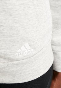 adidas Performance - Sudadera con cremallera - solid grey/off white/white - 5