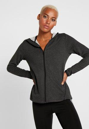PRIME HOODIE - Zip-up hoodie - carbon/black
