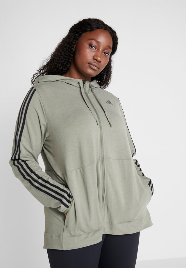 3S HOOD - Zip-up hoodie - legend green