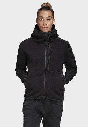 ADIDAS Z.N.E. FAST-RELEASE HOODIE - Fleece jacket - black