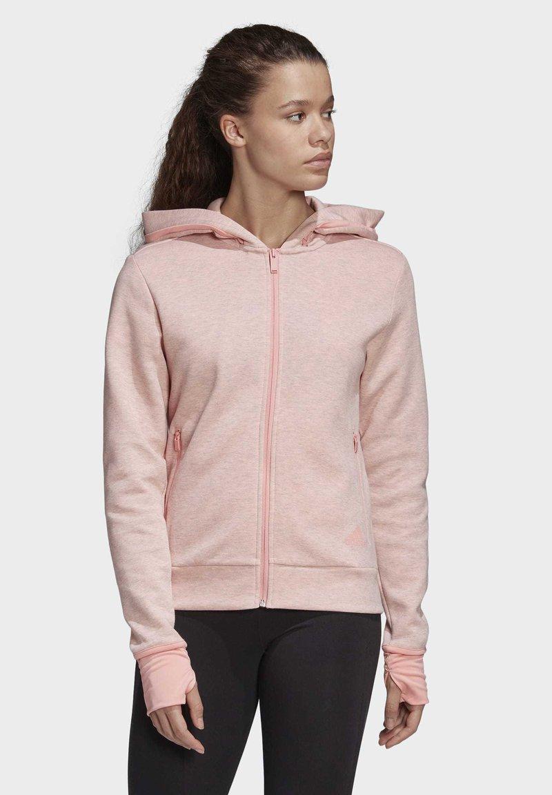 adidas Performance - MUST HAVES VERSATILITY HOODIE - Hettejakke - pink