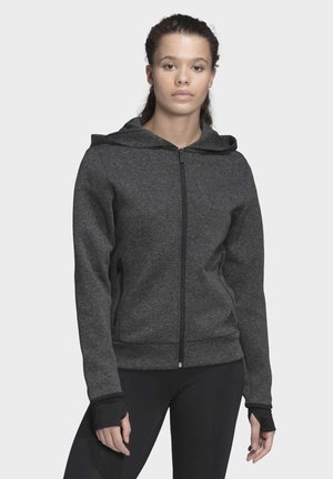 MUST HAVES VERSATILITY HOODIE - Bluza rozpinana - black