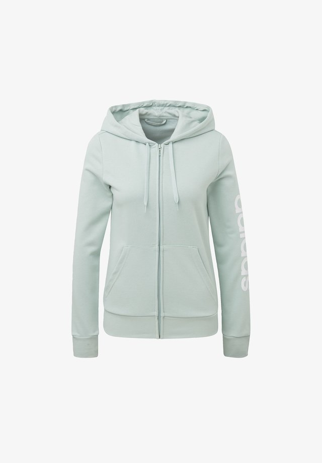ESSENTIALS LINEAR HOODIE - Bluza rozpinana - green tint