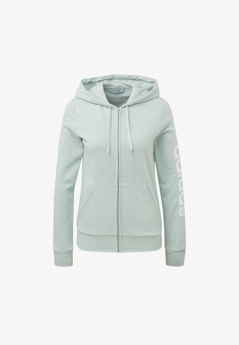 adidas Performance - ESSENTIALS LINEAR HOODIE - Bluza rozpinana - green tint