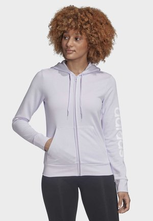 veste en sweat zippée - purple tint