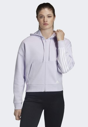 Zip-up hoodie - purple tint