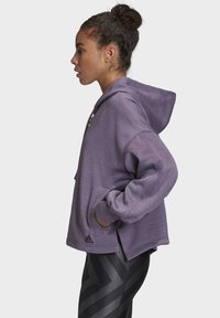 adidas Performance - GATHERED HOODIE - Hettejakke - purple - 3
