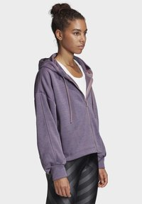 adidas Performance - GATHERED HOODIE - Hettejakke - purple - 4