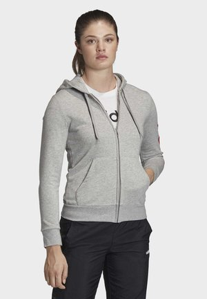 ESSENTIALS LINEAR HOODIE - Hettejakke - grey