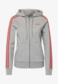adidas Performance - ESSENTIALS 3-STRIPES HOODIE - Zip-up hoodie - grey