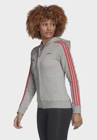 adidas Performance - ESSENTIALS 3-STRIPES HOODIE - Zip-up hoodie - grey - 3