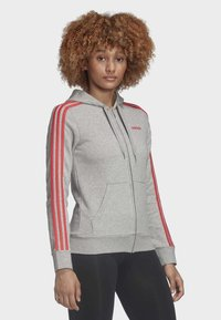adidas Performance - ESSENTIALS 3-STRIPES HOODIE - Zip-up hoodie - grey - 2