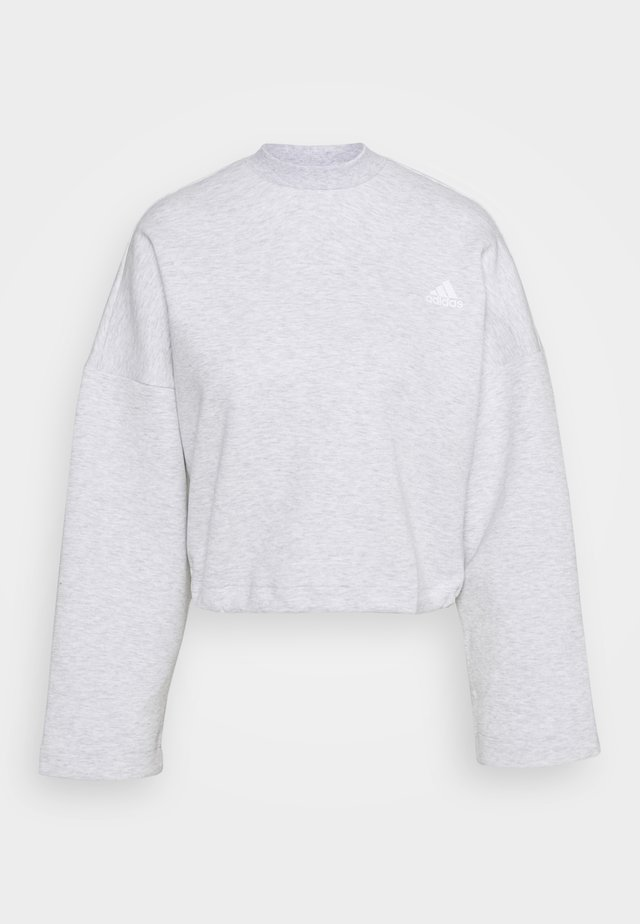 CREW - Topper langermet - light grey heather