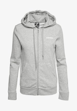 Zip-up hoodie - grey/white