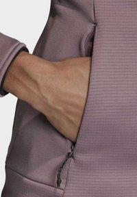 adidas Performance - STOCKHORN HOODED JACKET - Zip-up hoodie - purple - 3