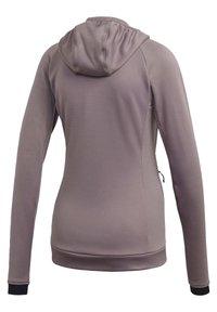 adidas Performance - STOCKHORN HOODED JACKET - Zip-up hoodie - purple - 7