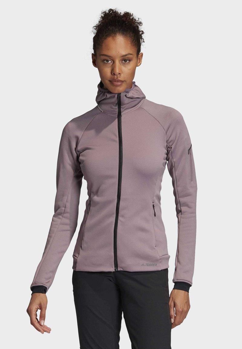adidas Performance - STOCKHORN HOODED JACKET - Zip-up hoodie - purple