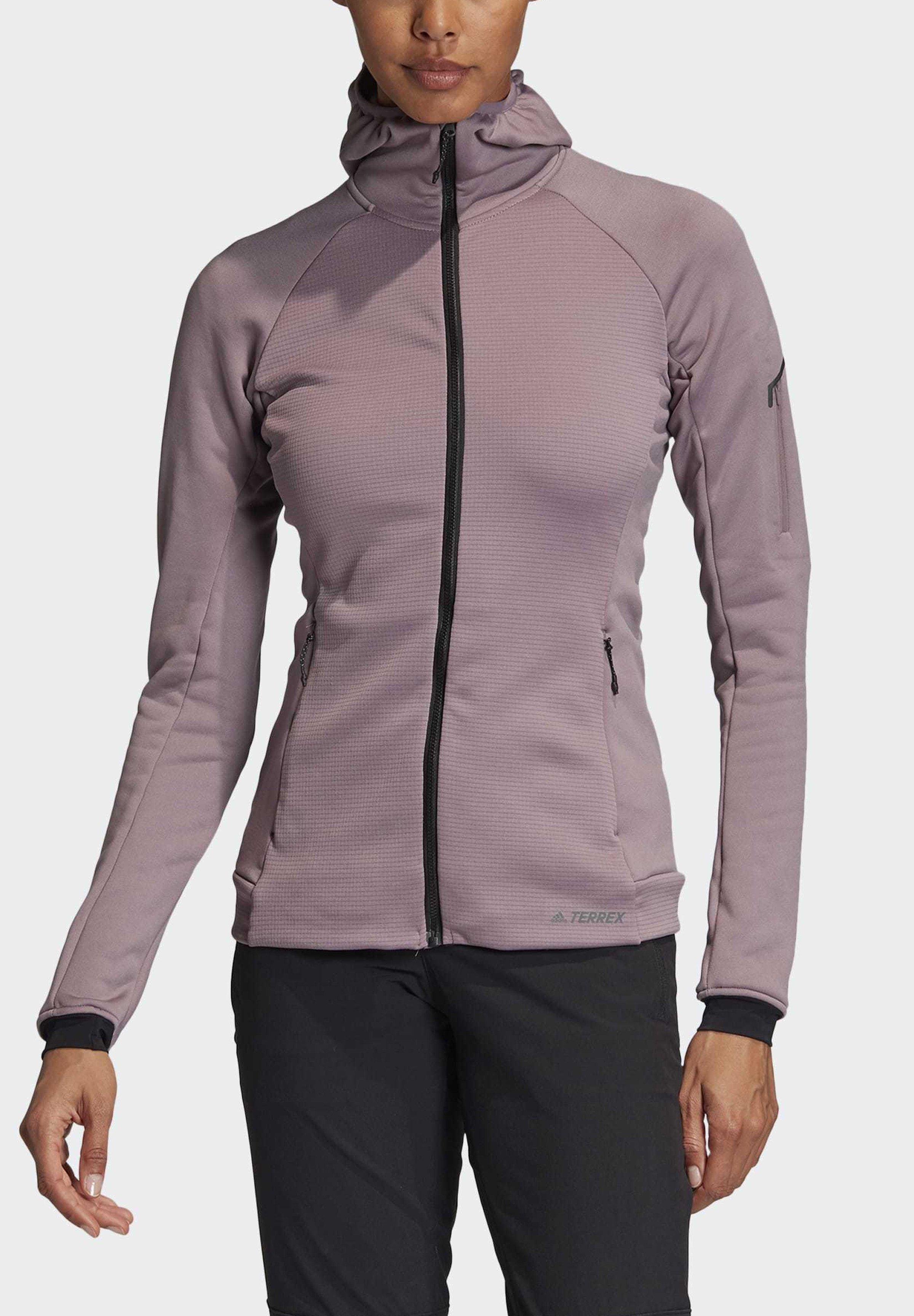 adidas Performance STOCKHORN HOODED JACKET - Bluza rozpinana - purple