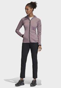 adidas Performance - STOCKHORN HOODED JACKET - Zip-up hoodie - purple - 1