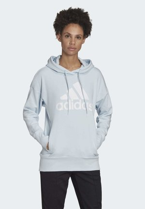 BADGE OF SPORT LONG HOODIE - Sweat à capuche - blue
