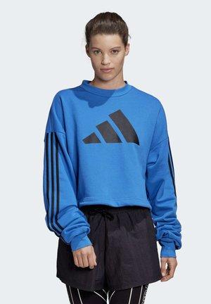 ADJUSTABLE 3-STRIPES SWEATSHIRT - Sweatshirt - blue