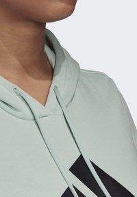 adidas Performance - BADGE OF SPORT HOODIE FLEECE HOODIE (PLUS SIZE) - Hoodie - green - 7