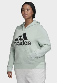 adidas Performance - BADGE OF SPORT HOODIE FLEECE HOODIE (PLUS SIZE) - Hoodie - green - 3