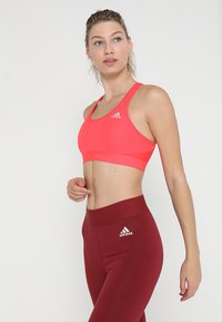 adidas Performance - CLIMACOOL WORKOUT BRA - Sport BH - shock red - 0
