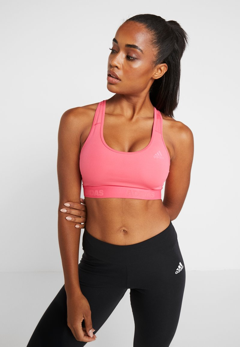 adidas Performance - CLIMACOOL WORKOUT BRA - Sports bra - pink