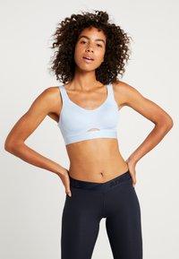 adidas Performance - SOFT - Sports bra - glow blue - 0
