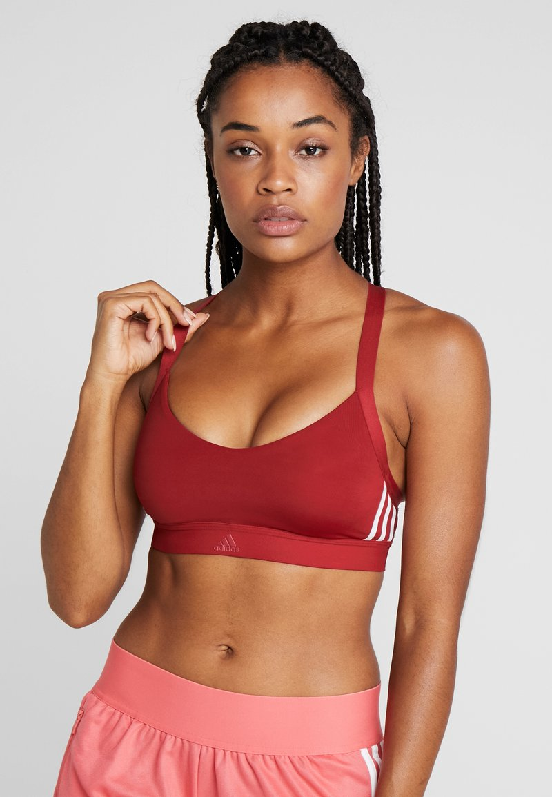 adidas Performance - CLIMALITE WORKOUT BRA - Sujetador deportivo - dark red