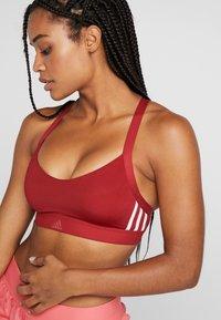 adidas Performance - CLIMALITE WORKOUT BRA - Sport BH - dark red - 4