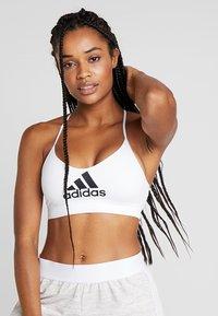 adidas Performance - CLIMACOOL WORKOUT BRA - Sportovní podprsenka - white - 0