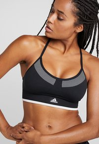 adidas Performance - PRIMEKNIT WORKOUT BRA - Urheiluliivit - black/white - 4