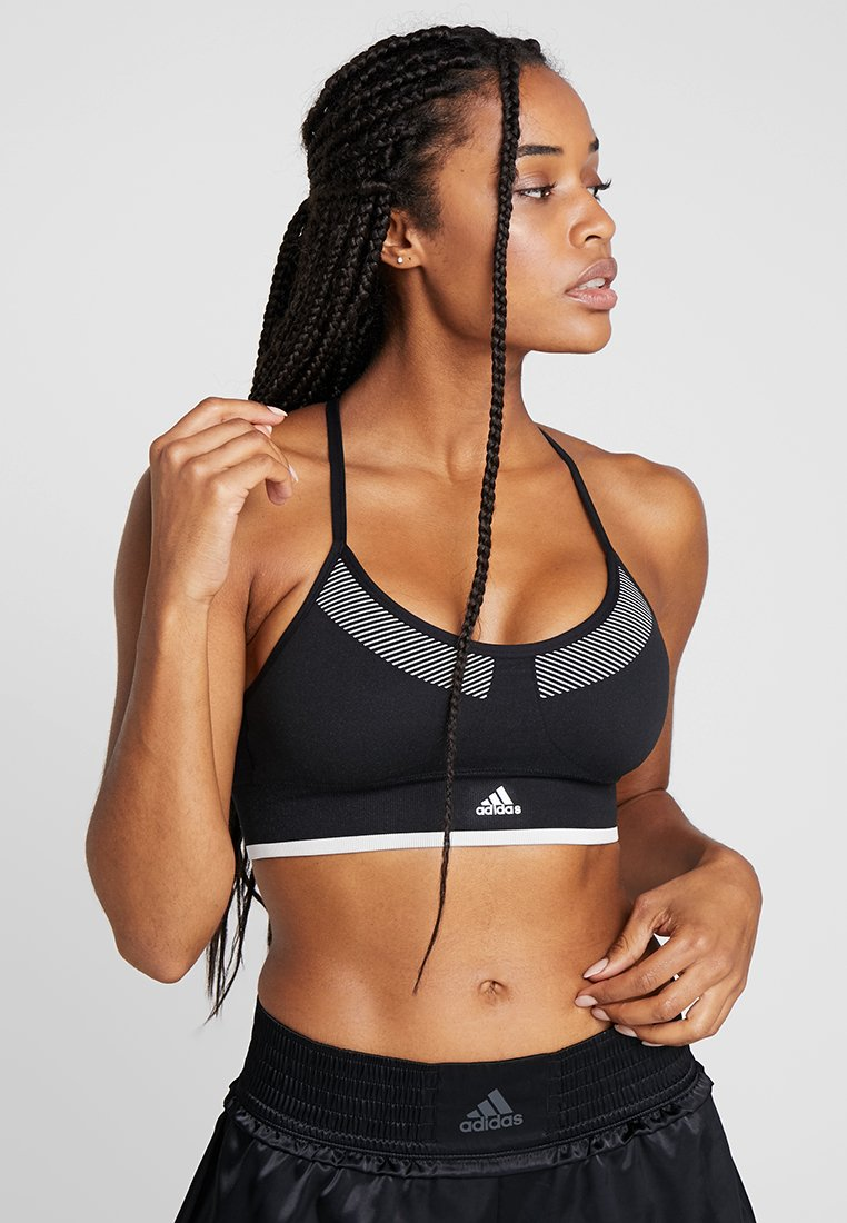 adidas Performance - PRIMEKNIT WORKOUT BRA - Sport BH - black/white