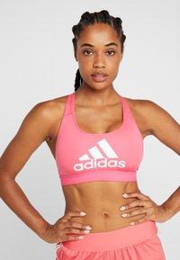 adidas Performance - HIGH COMPRESSION CLIMACOOL WORKOUT BRA - Sportovní podprsenka - real pink - 0