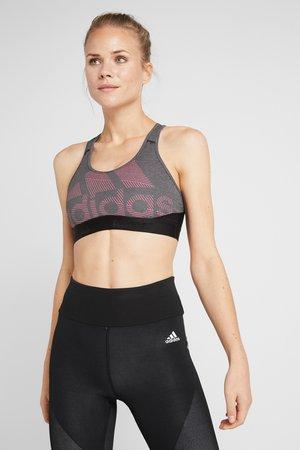 Sports bra - black/heather/real pink