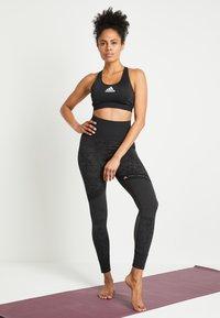 adidas Performance - DESIGNED4TRAINING WORKOUT BRA MEDIUM SUPPORT - Sports bra - black - 1