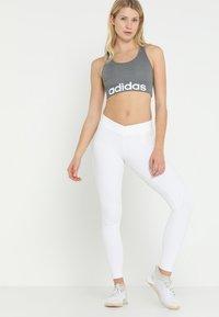 adidas Performance - LOGO - Sport BH - black melange/white - 1