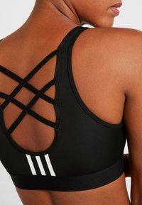 adidas Performance - 3S BRA - Sports bra - black - 4