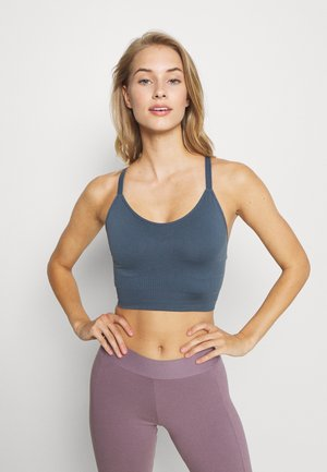 SEAMLESS BRA - Sports bra - blue