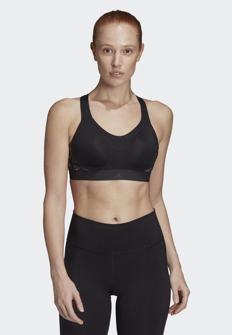 adidas Performance - STRONGER FOR IT RACER ITERATION BRA - Sports bra - black