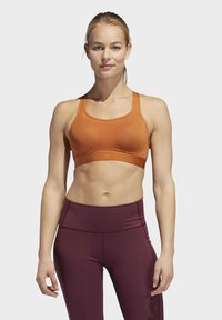 adidas Performance - STRONGER FOR IT RACER BRA - Sports-BH - brown - 0