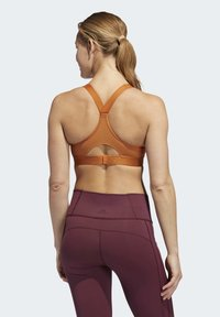adidas Performance - STRONGER FOR IT RACER BRA - Sports-BH - brown - 1